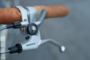 Shimano friction shifters mounted on Paul Components Thumbies.