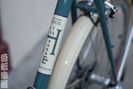 Frame detail of the Rivendell Hillbourne bicycle.
