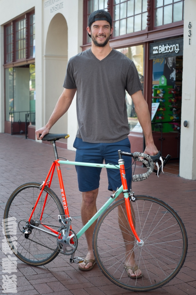 Cullen and his Basso Ascot steel road bike.