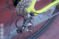 2014 Kona Jake the Snake cassette and derailleur detail.