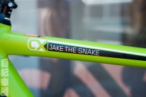 2014 Kona Jake the Snake top tube detail.