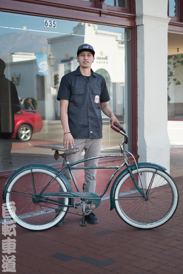 Luis and his 1950 Schwinn Cruiser.
