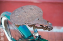 1950 Schwinn Cruiser saddle detail.