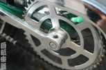 Mexican Benotto chainring and crank detail.