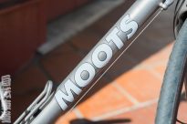 Moots Vamoots CR down tube decal detail.