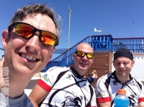 Left to right: Yours truly, Lane and John at the San Diego Glider Port after a grueling ride up Torrey Pines Hill.