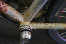 Colnago bottom bracket detail.