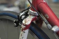 Colnago fork lug and brake detail.