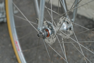 Mercier Kilo OS Double Top Tube Grass Racer Front Hub detail