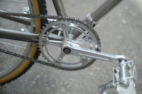 Mercier Kilo OS Double Top Tube Grass Racer chainring detail