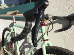 Ultegra Shifter and Salsa Cowbell bars detail