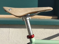 Brooks Cambium and Thompson seat post detail.