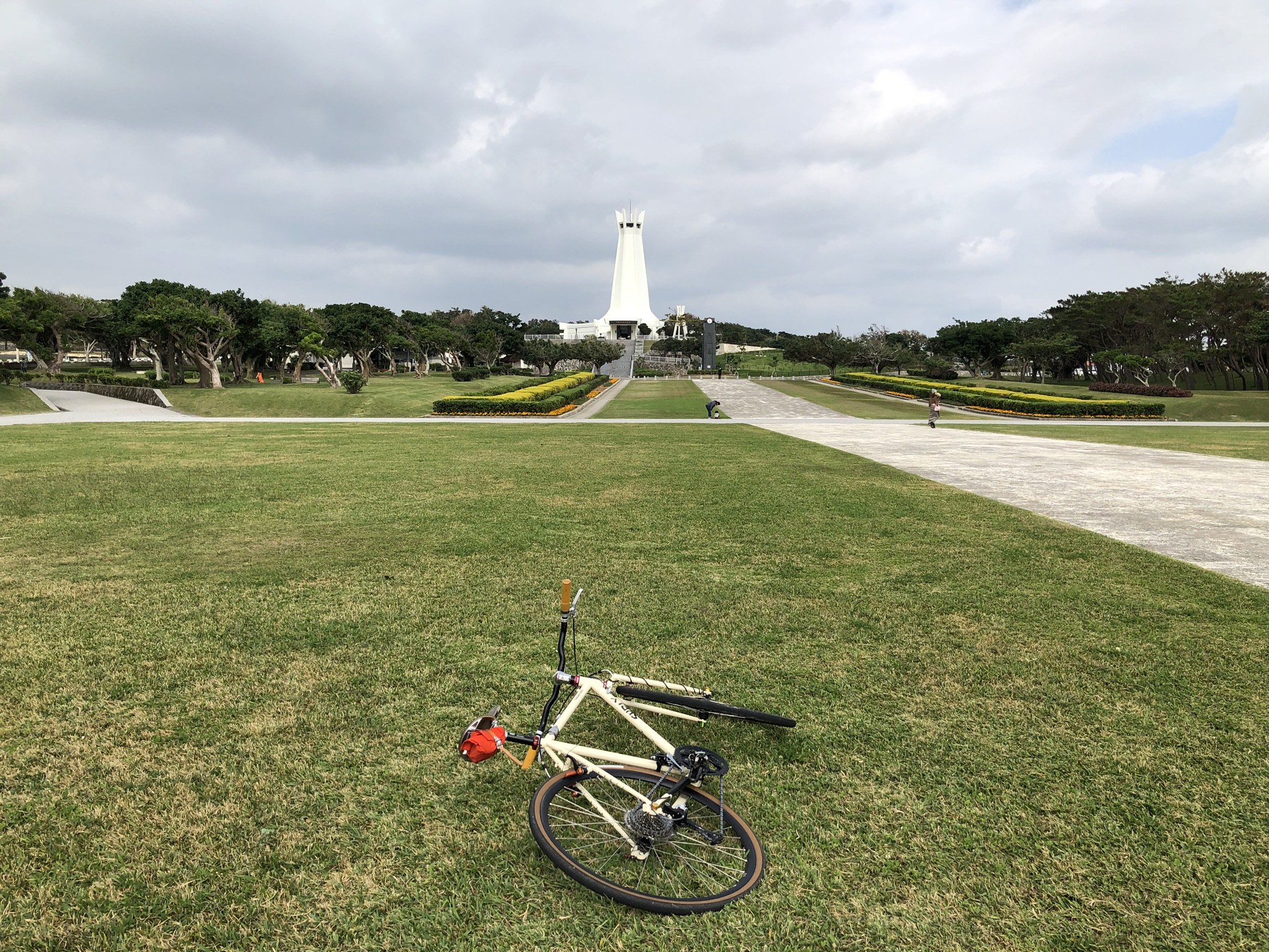 At the Okinawa Peace Memorial Park.