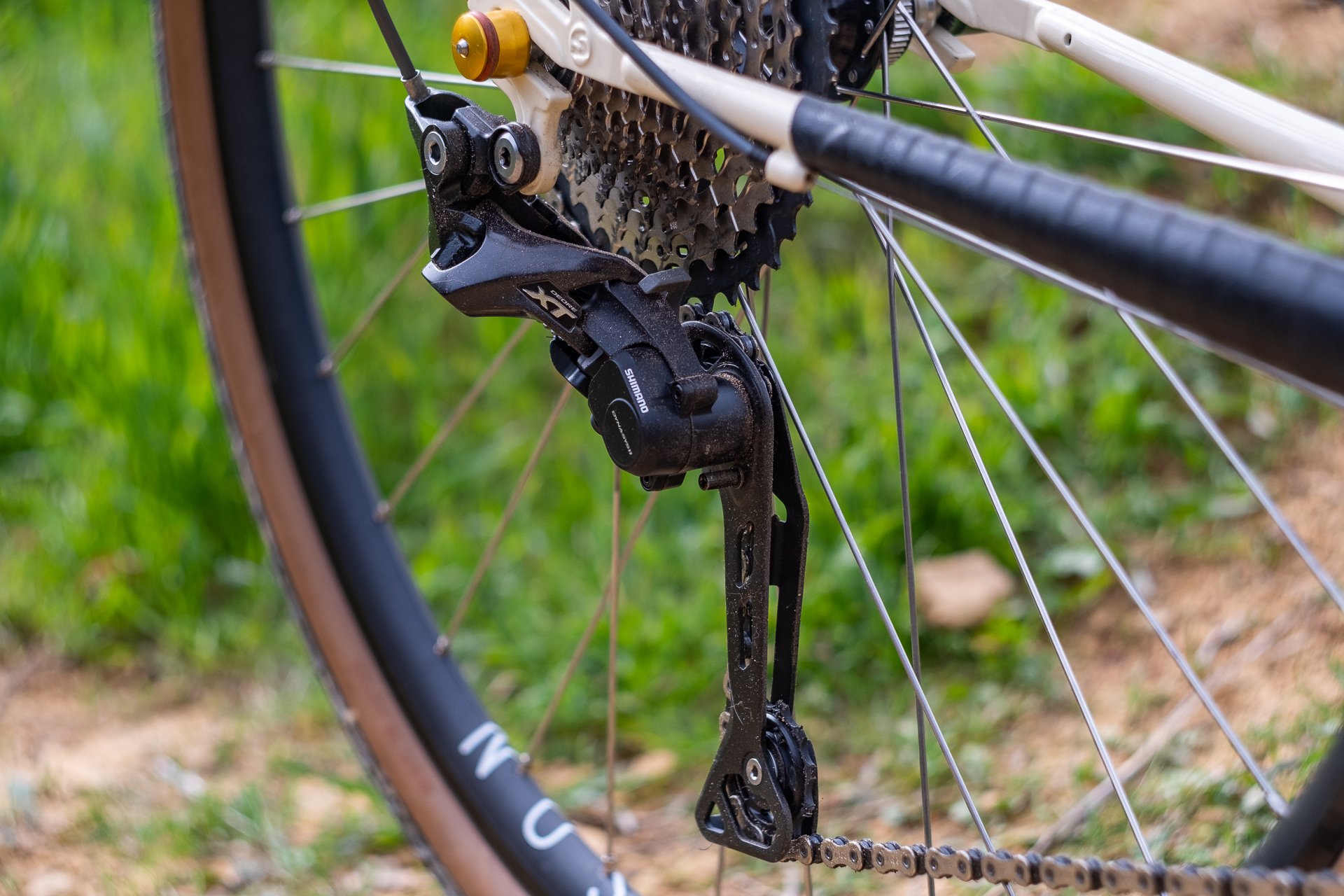 Surly Travelers Gravelers Check Shimano XT derailleur detail.