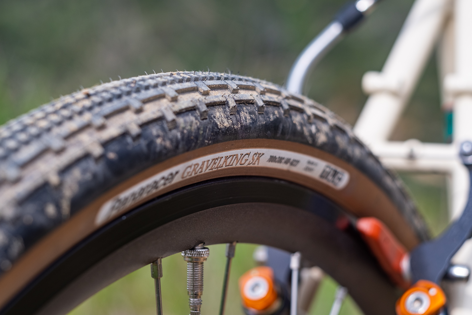 Surly Travelers Gravelers Check Panaracer Tire detail.