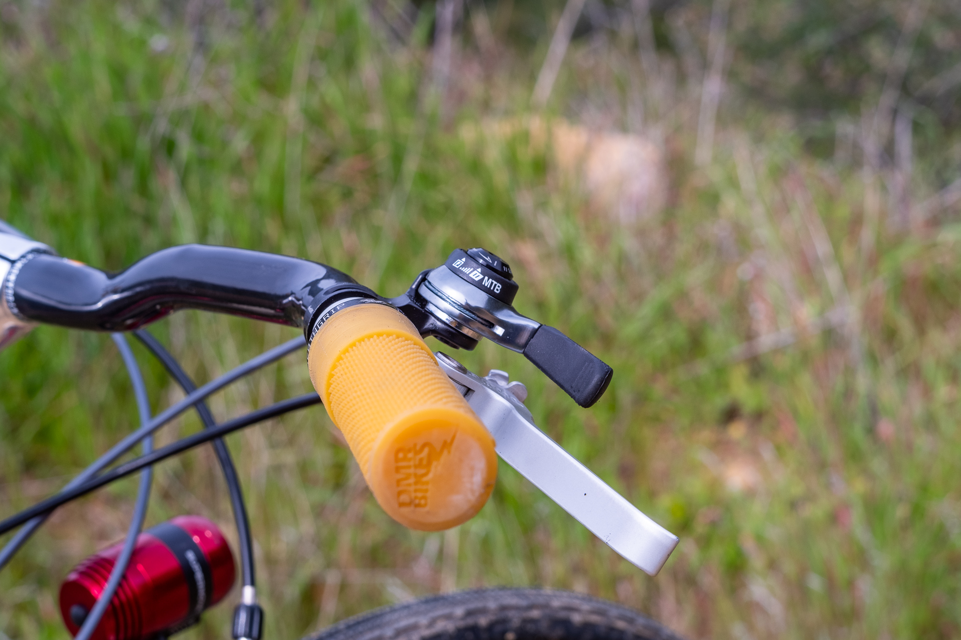 Surly Travelers Gravelers Check Microshift shifter detail.