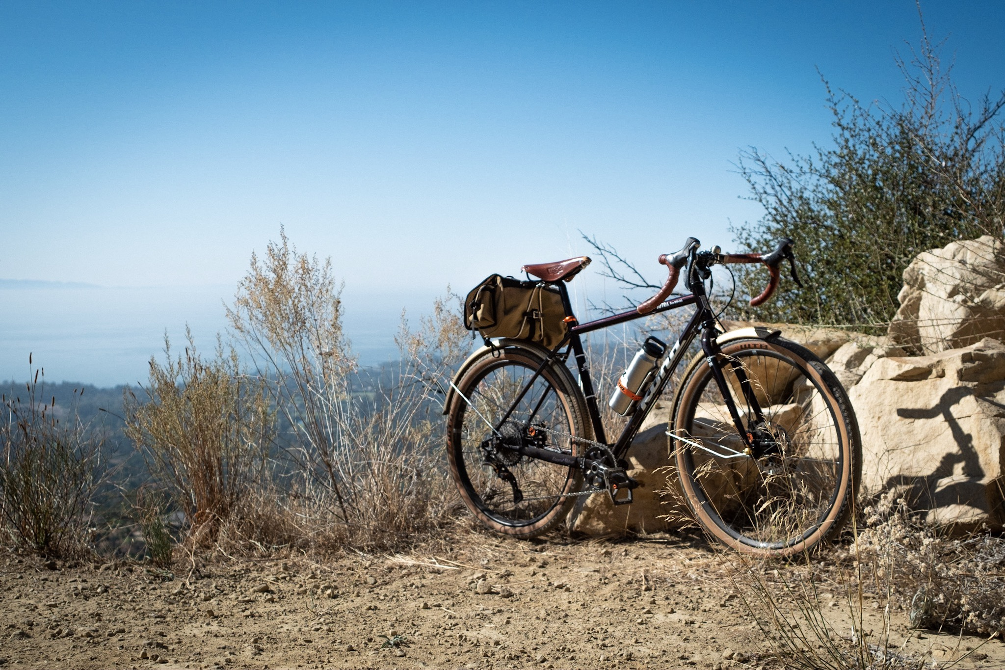 Kona Sutra 650b view from Romero Canyon Trail, Santa Barbara, CA.