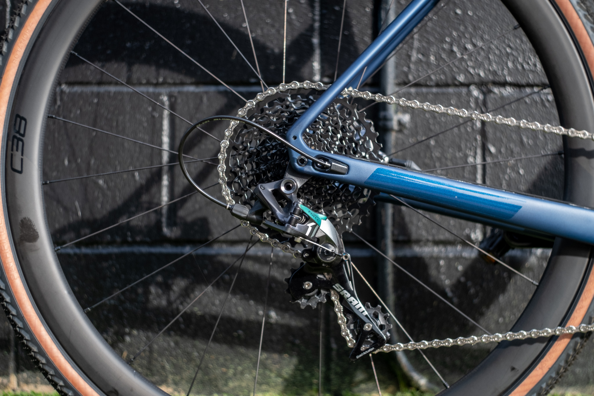 2020 Specialized Diverge Comp X1 rear wheel and cassette detail