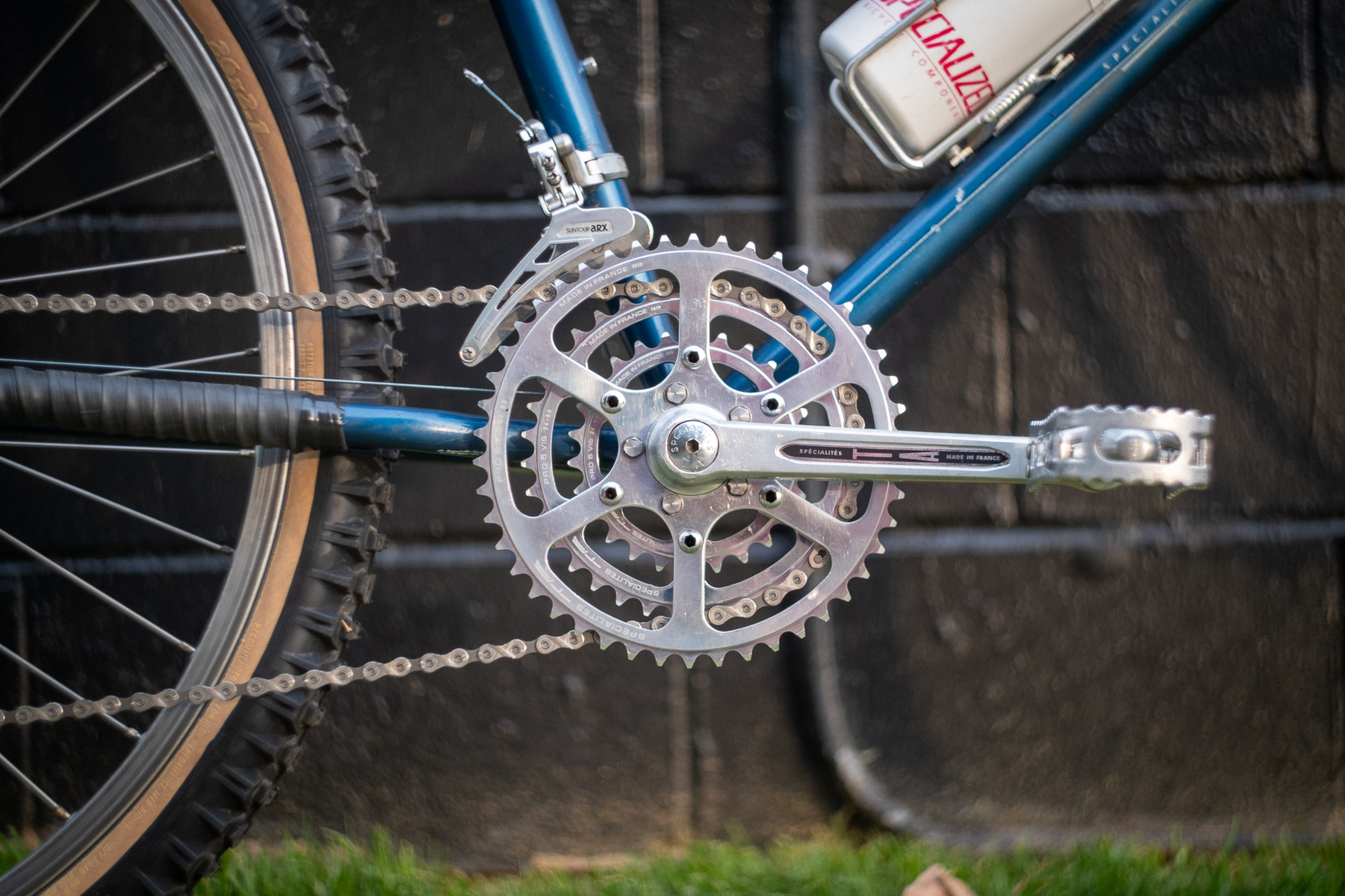 1981 Specialized Stumpjumper chainring detail