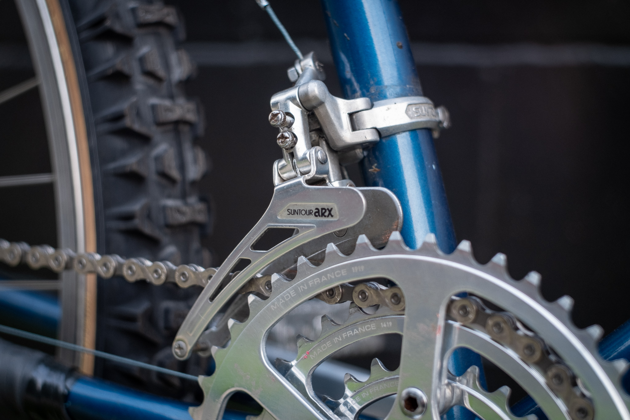 1981 Specialized Stumpjumper front derailleur detail