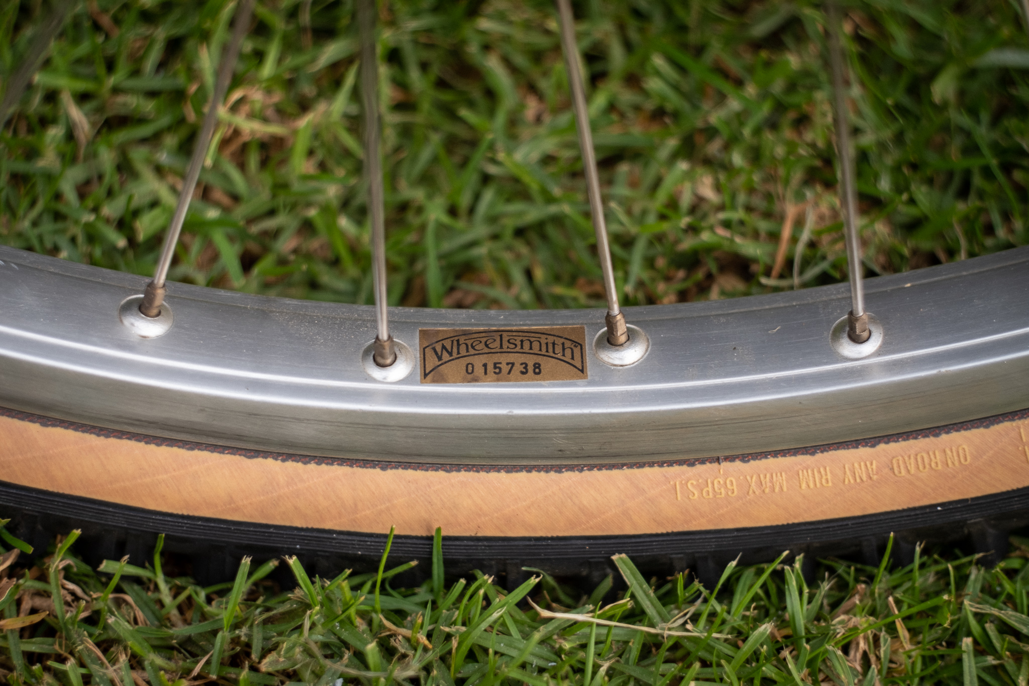 1981 Specialized Stumpjumper Wheelsmith wheel detail