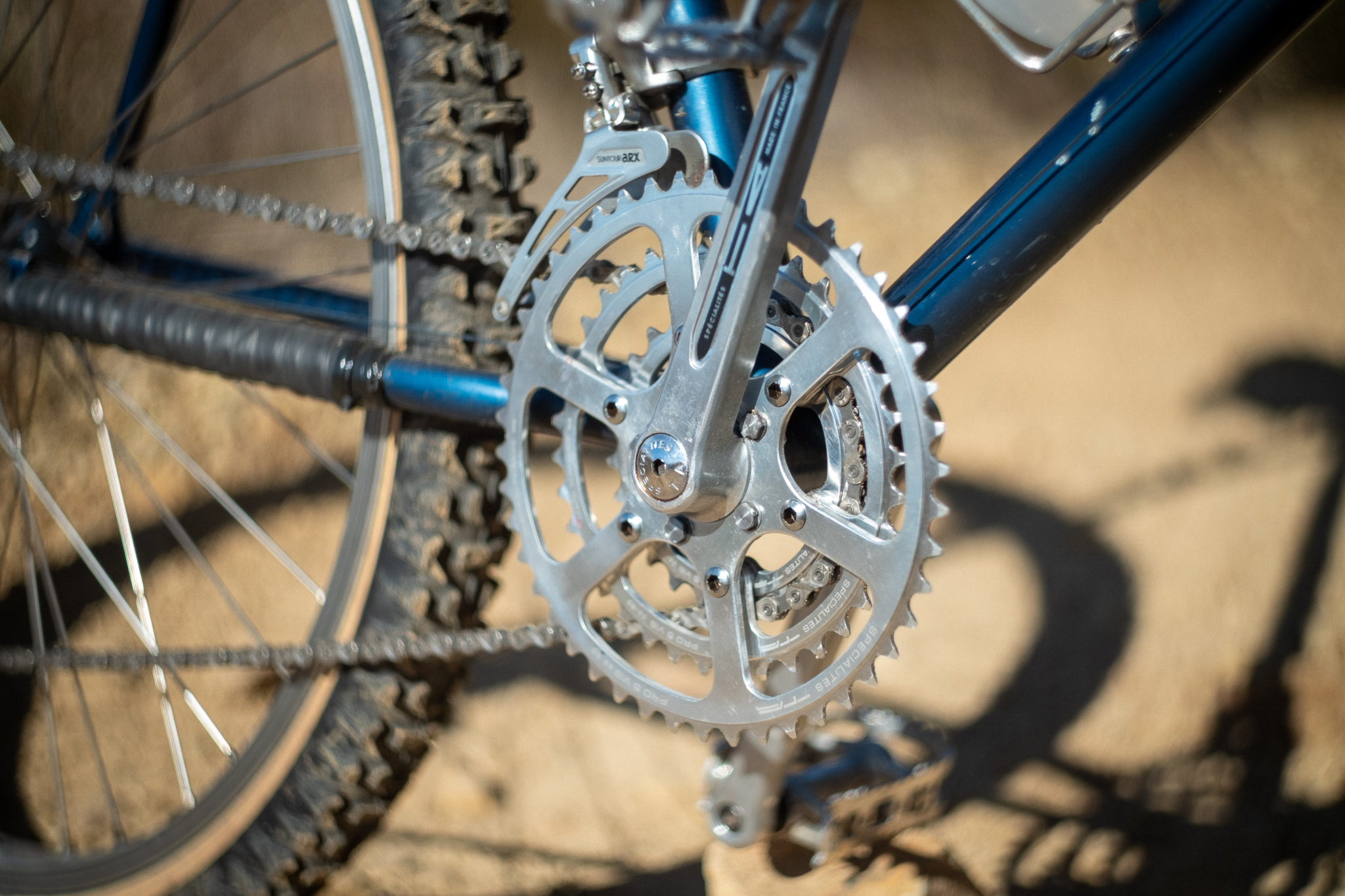 1981 Stumpjumper TA cranks and chainrings detail